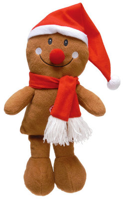 Plush Gingerbread Man with Scarf
