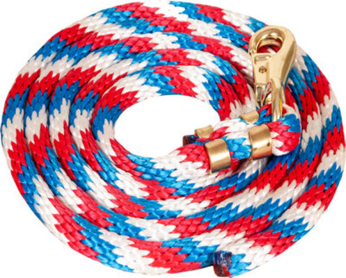 Poly Colorful Lead Rope, Bull Snap