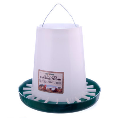 Poly Hanging Chicken Feeder, 25 lb