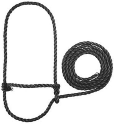 Poly Rope Sheep/Goat Halter, black