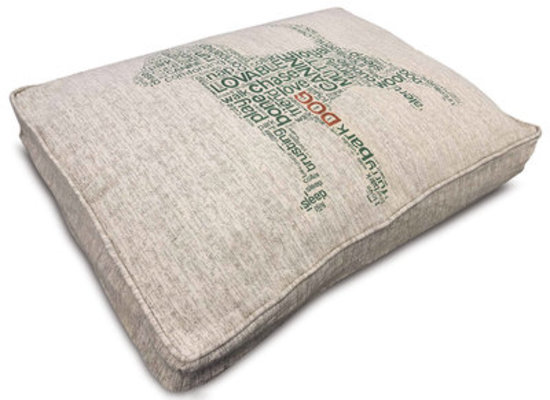"Pooch Pen Luxury Jacquard Pet Pillow Bed, 36""L x 27""W x 4""H"