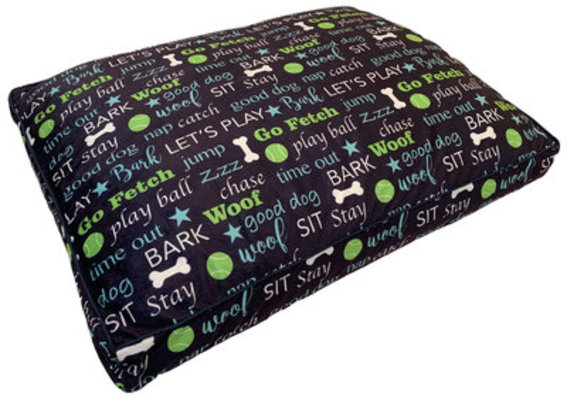 "Pooch Pen Printed Fleece Pet Pillow Bed, 36"" x 27"" x 4"""