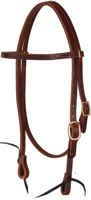 Premium Harness Leather Pre-Oiled Browband Headstall