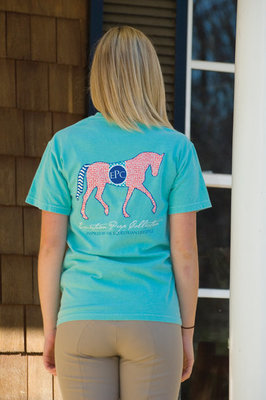 Preppy Patterned Horse Tee