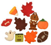 Preppy Puppy Fall & Halloween Dog Cookies, each