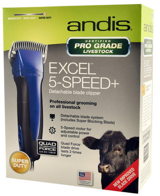 ProClip Excel 5-Speed Clipper w/ Super Blocking Blade, Indigo Blue