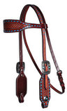 Professional's Choice Basket Weave Browband Headstall