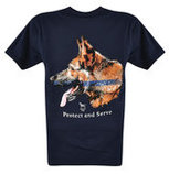 Protect & Serve T-shirt, Navy Blue