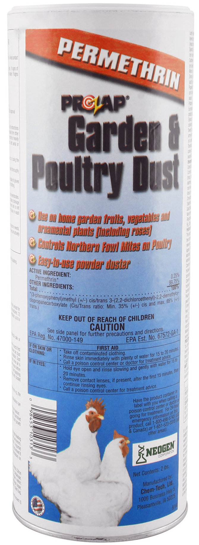 Prozap Mite and Lice Control Poultry & Garden Dust with