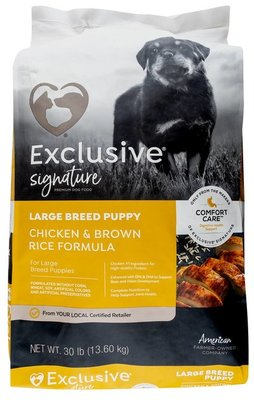 Purina Exclusive Large Breed Puppy Food, Chicken/Brown Rice