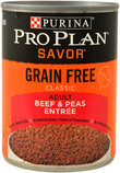 Pro Plan Savor Grain Free Canned Dog Food, 13 oz