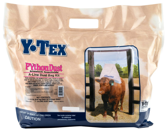 5ba755b4e5 PYthon® Dust Bag Insecticide Kit for Livestock by Y-Tex