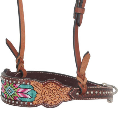 Rafter T Beaded Inlay Noseband