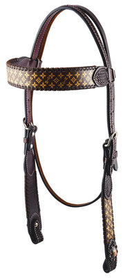 Rafter T Branded Browband Headstall, Horse