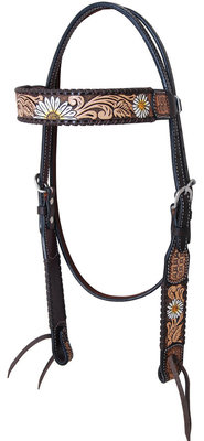 Rafter T Daisy Browband Headstall