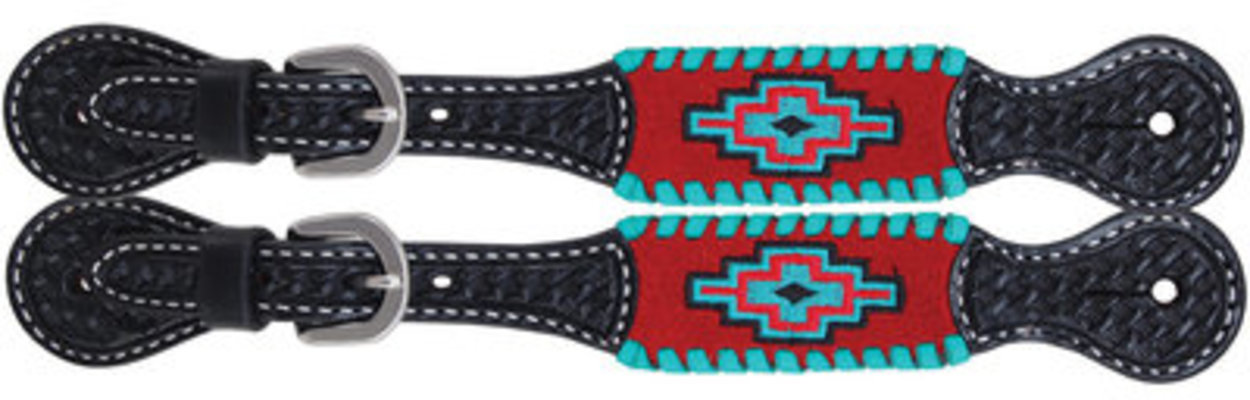 Rafter T Embroidered Aztec Spur Straps