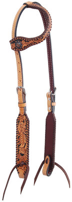 Rafter T Floral Tooled One Ear Headstall