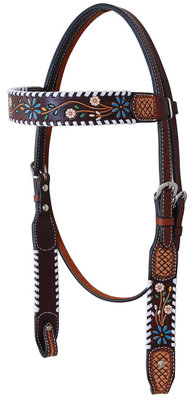 Rafter T Floral Vine Browband Headstall
