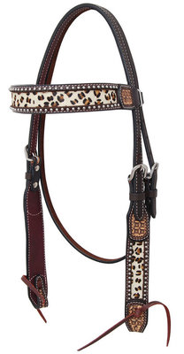 Rafter T Leopard Browband Headstall