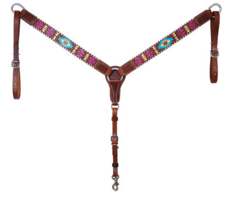 Rafter T Painted Aztec Breast Collar