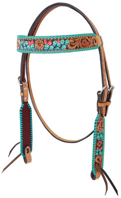 Rafter T Painted Cactus Browband Headstall