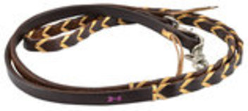Rafter T Plaited Barrel Racing Reins