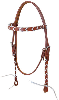 Rafter T Plaited Browband Headstall