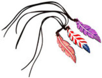 Rafter T Saddle Charm, Feather (Assorted)