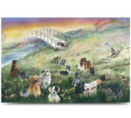 Dog Rainbow Bridge Sympathy Card