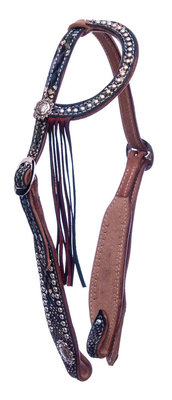 Rainbow Mystic One Ear Headstall, Full