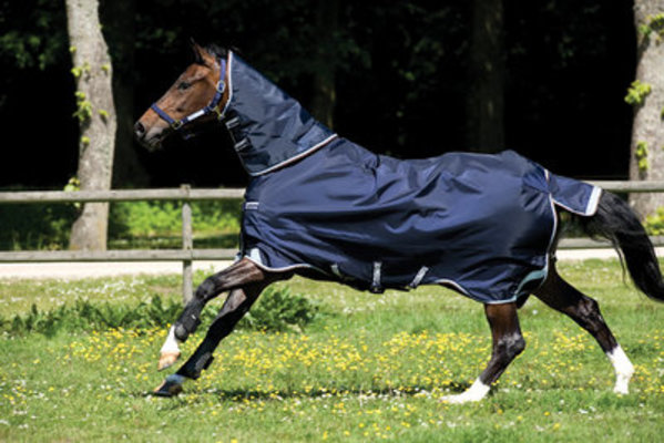 Rambo Duo 1000D Turnout Horse Blanket w/ Hood, 400g