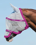 Rambo Fly Mask Plus, Silver/Purple