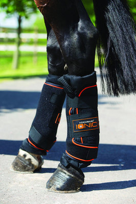 Rambo Ionic Stable Boots, Black/Orange