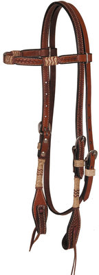 Rawhide Knot Browband Headstall