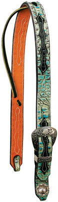 X Series Neon Rodeo Set Ear Headstall, Red Alligator