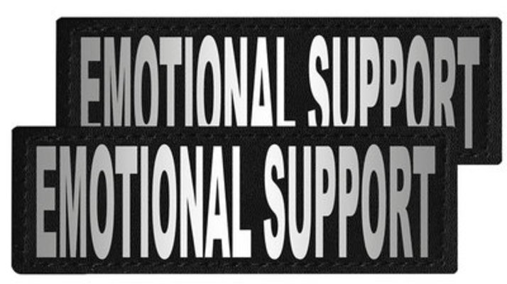 "Reflective ""Emotional Support"" Patches, Set of 2"