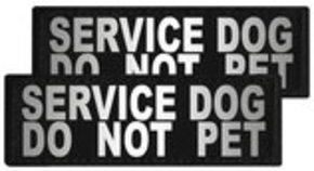 "Reflective ""Service Dog Do Not Pet"" Patches, Set of 2"
