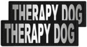 "Reflective ""Therapy Dog"" Patches, Set of 2"