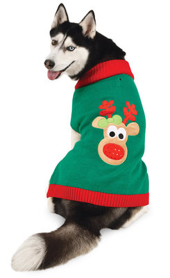 Reindeer Christmas Dog Sweater