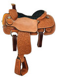 Reinsman Calf Roper Saddle, Wide Tree, Mahogany
