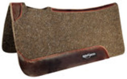Reinsman Dark Brown Wool Felt Contoured Pad