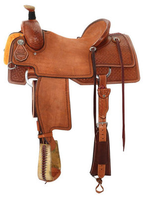 Reinsman Ranch Roping Saddle, Regular Tree, Mahogany
