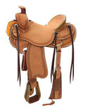 Reinsman Roughout Rancher Saddle, Wide Tree