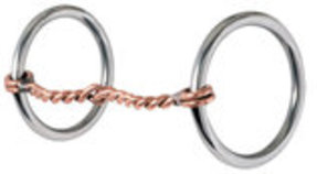 Reinsman Traditional Twisted Copper Loose Ring Snaffle Bit