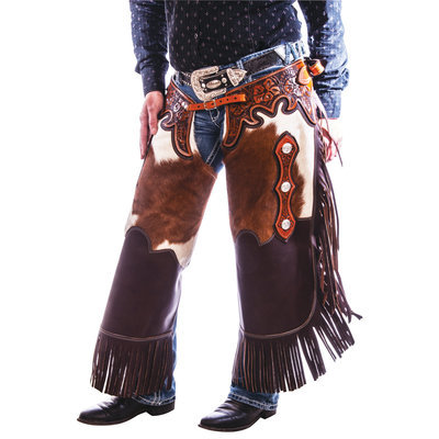Rended Cowhide / Leather Chink Chaps