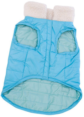 Reversible Puffy Coat, Blue, Medium