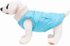 Blue Reversible Puffy Dog Coat