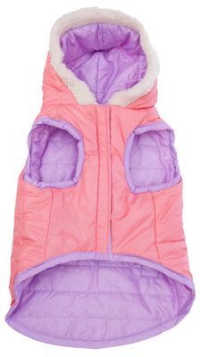 Reversible Puffy Coat, Lilac, Large