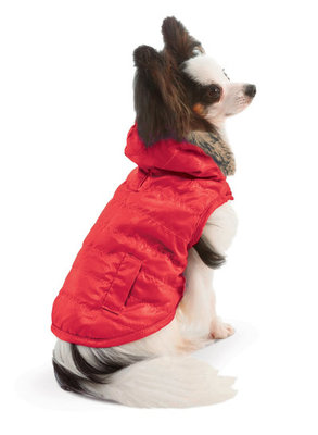 Reversible Puffy Coat, Red/Black