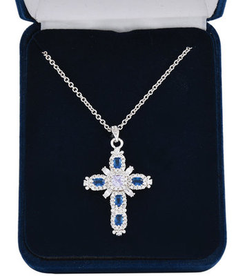 River of Lights Budded Cross Necklace
